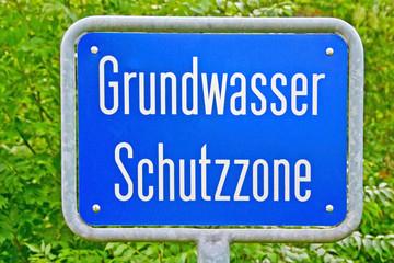 Grundwasser Schutzzone