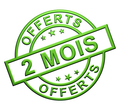 Label 2 Mois Offerts