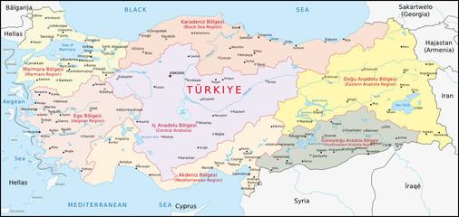 Türkei, Geographische Gebiete