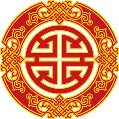 Chinese Pattern - Career Luck and Prosperity Symbol
