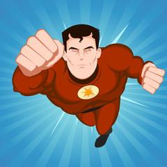 Poster Superheroes Red Superhero