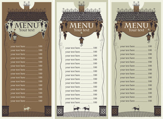 menu of the old roof and lantern
