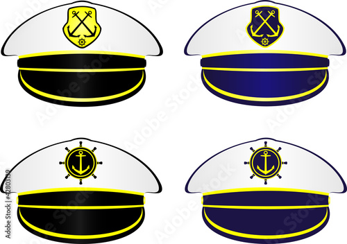 """""""Captain's Hat"""" Stock image and royalty-free vector files ... Captain Hat Vector"""