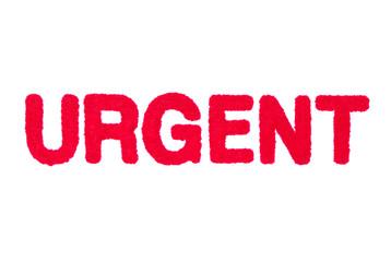 Urgent Stamp on White Paper