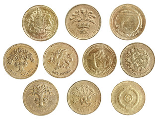 one pound coin collection