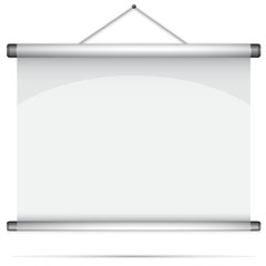 Blank roll-up poster