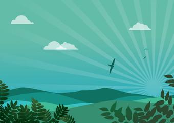 Poster de jardin Oiseaux, Abeilles Beautiful Nature Landscape