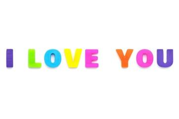 アルファベット I LOVE YOU
