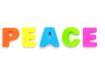 アルファベット PEACE
