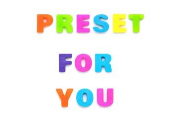 アルファベット PRESENT FOR YOU