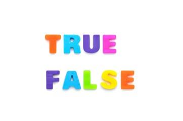 アルファベット TRUE FALSE