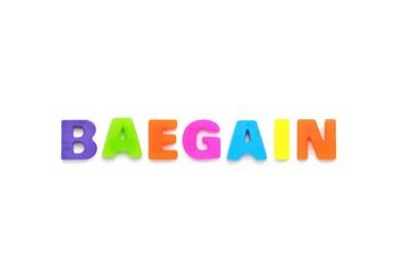 アルファベット BAEGAIN