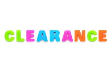 アルファベット CLEARANCE