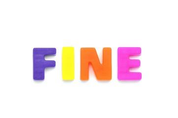 アルファベット FINE
