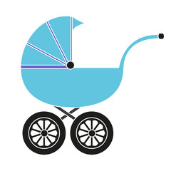 Baby carriage for the boy
