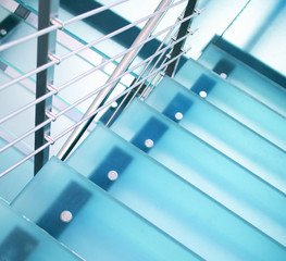 Photo sur Plexiglas Escalier Modern glass staircase