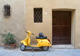 Italian yellow scooter