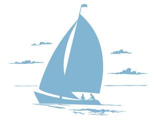 Vignette Segelboot