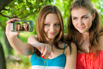 Girls taking picture of themselves