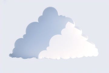 niche in the form of clouds on a white wall in the sun