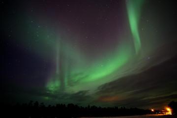 Polarlicht über Inari