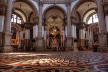 Interior of Church of Santa Maria della Salute, Venice