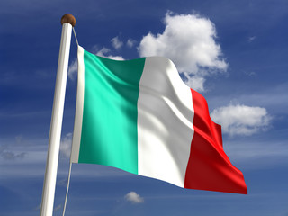 Italy flag (with clipping path)