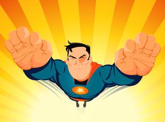 Superhero Blasting Off