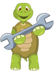 Funny Turtle. Support.