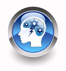 """""""Brainstorming"""" glossy icon"""