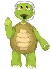 Funny Turtle. Comunication.