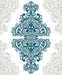 Vector vintage ornate border frame card cover