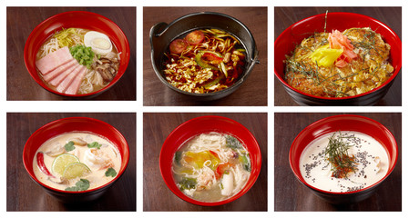 asiatic,chinese,Japanes soup  collage