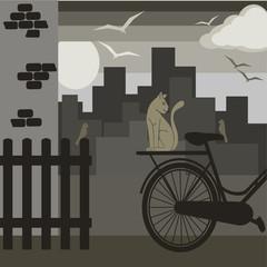 sfondo con città grigia
