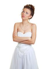 Printed roller blinds womenART bride doubting