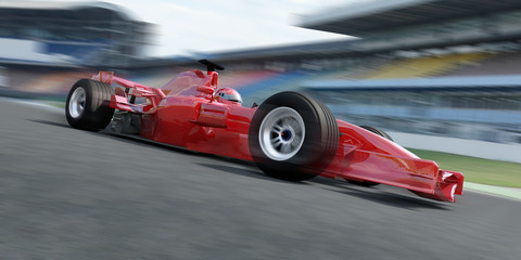 Photo sur Aluminium Motorise f1 racer rennstrecke