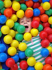 Girl in fun balls