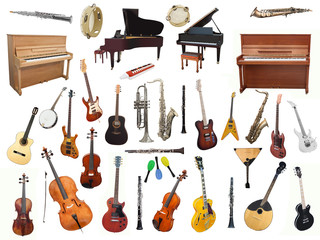 music instruments Wall mural