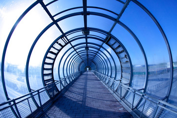 Fotorolgordijn Tunnel blue tunnel