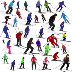 Set of skiers