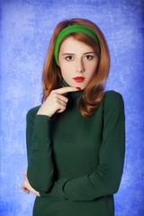 American redhead girl.