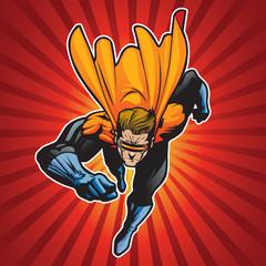 Fotobehang Superheroes 4 up blast beam