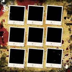 photo frames on grunge