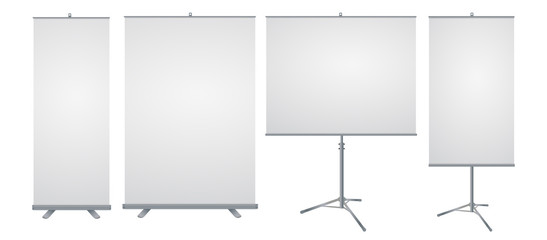 Vector roll up banner