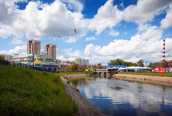 View of Ivanovo - buildings along the river Uvod