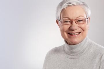 Portrait of elderly lady smiling