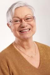 Portrait of happy granny