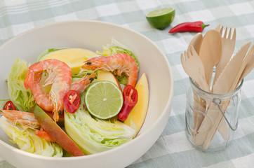 shrimp, mango and lime salad
