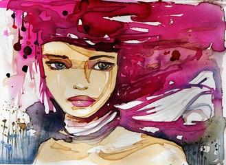 fantazyjny portret kobiety - fototapety na wymiar