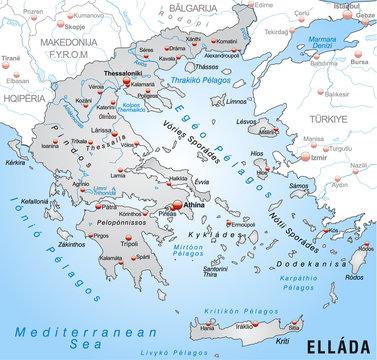 Umgebungskarte von Griechenland